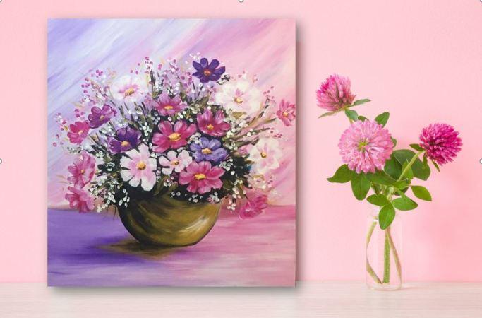 Снимка: Нарисувайте си картина с цветя на Цветница