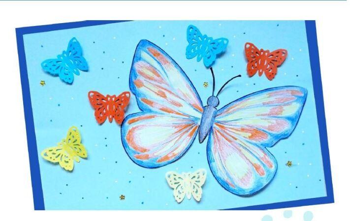 Снимка: Детска работилничка - пано с пеперуди