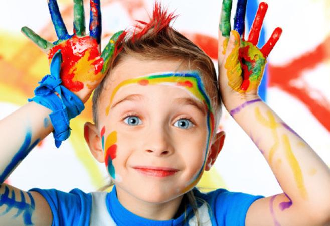 """Снимка: Детска работилничка """"Забавни картини с плодове, зеленчуци и листа"""""""